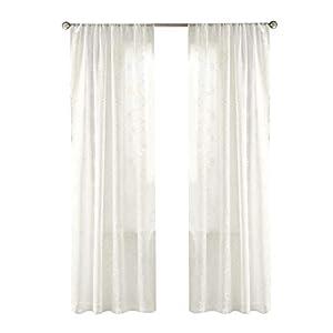 Gardinen Schals Mit Stickerei Vorhänge Schlafzimmer Transparent Vorhang Für  Große Fenster Anya Off White, Lang