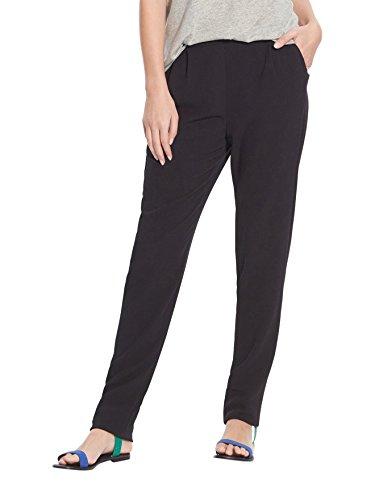 Balsamik - Pantalon en crêpe fluide, masculin - femme Noir