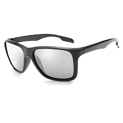 WZYMNTYJ Neue Polarisierte Sonnenbrille Objektiv Männer Mode Männliche Sonnenbrille Schwarzer Rahmen Brillen Männliche Sonnenbrille