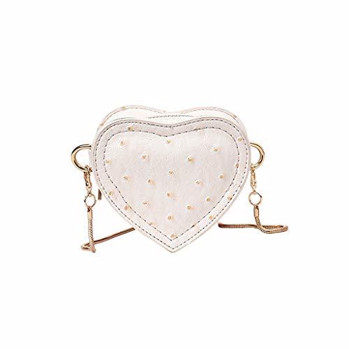 Linkay Sacs Bandoulière - Mode Femme Sac bandoulière Sac épaule Vague d'amour Sac à Main Sac de téléphone Sac de Monnaie (Blanc, Free)