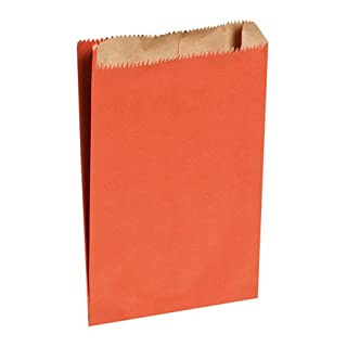 Red paper bags, 6 x 2 x 8