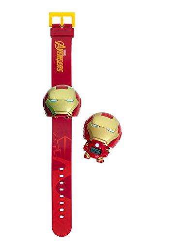 159 Iron Man Kinder-Armbanduhr mit Hintergrundbeleuchtung , rot/gold , Kunststoff , digitale , LCD-Display , Junge/ Mädchen , offiziell ()