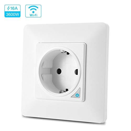 TEEKAR Enchufe Pared Inteligente WiFi Alexa (No Requiere Smart Plug), Smart Life...