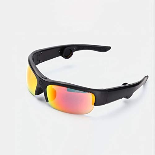 YWYU Knochenleitungs-Headset-Brille drahtlos Kopfmontierte Bluetooth-Sonnenbrille Europäischer Kopf trägt Sport-Ohrknochen-Sonnenbrillen für den Ohr Kopfhörer Bluetooth-Knochenleitungskopfhörer