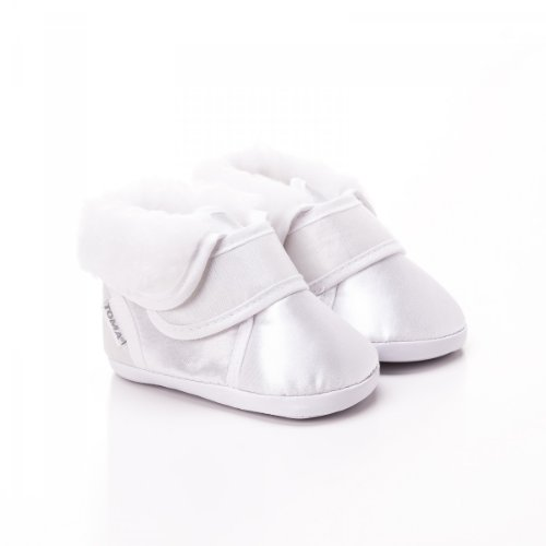 TOMA Taufschühchen Festliche Baby Taufschuhe Babyschuhe Sandalen BS114 Weiß