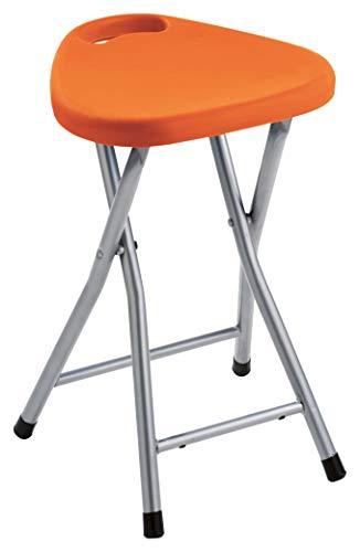 Gedy CO756700300 Taburete Plegable, Naranja, 46,5x30x29,3 cm