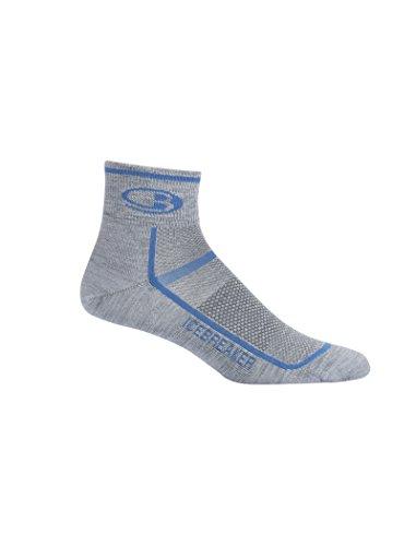 Icebreaker Herren Socken Multisport Light Mini XL Twister Hthr/Sea Blue (Herren Yoga-socken Größe Xl)