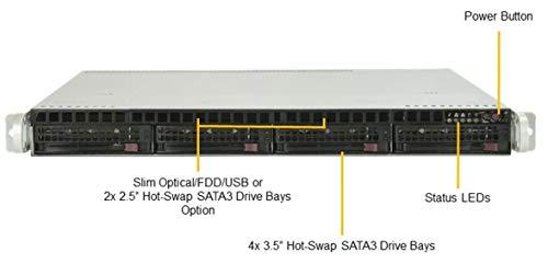 1U Rack Server eterio 116 RE1 (Intel Xeon Silver 4208 CPU / 16GB RAM / 2X 240GB SSD + 2X 4TB HDD/RAID 0,1,10 / 2X 500W) ((16gb Rack-server)