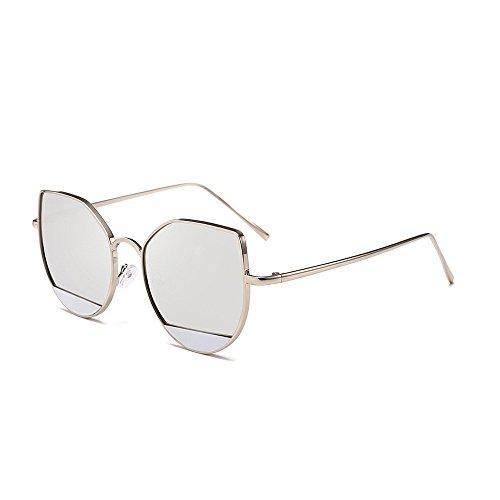 Yezijin_Sunglasses YEZIJIN Unisex Sonnenbrille, rund, Acetat-Rahmen, UV-Brille Free Size C