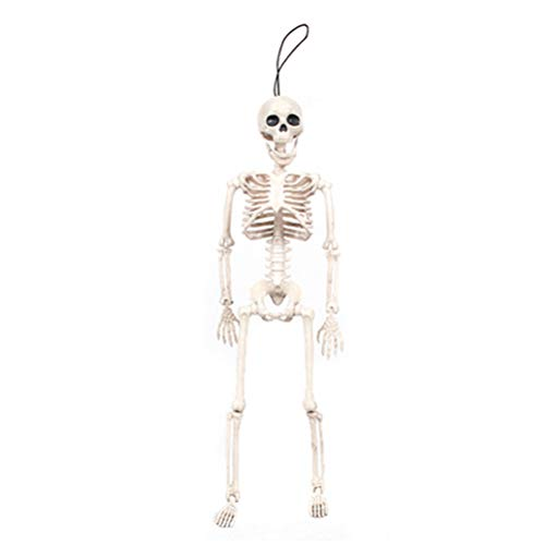 BESTOYARD Simulation Kunststoff Schädel Halloween Horror Skeleton Requisiten Scary Requisiten für Halloween Party (40 * 10 cm (10 Für Scary Spiele Halloween)