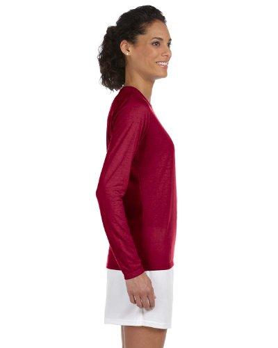Gildan Performance® Ladies` Long Sleeve T-Shirt Rojo cardenal