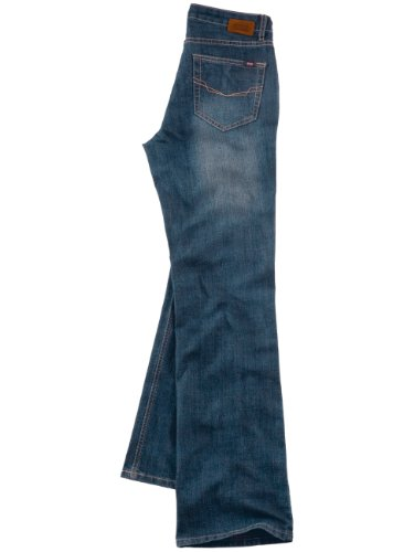 H.I.S Jeans Damen Jeans Hoher Bund, Jeans Sunny HIS-093-10-802 Blau (w403; cross)