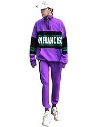 2b6e7b7d69a4 Energy Men s Back Cotton Two Piece Hit Color Sports Pullover Tracksuit