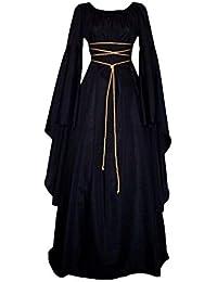 PengGengA Vestito Vestito Cosplay Medievale da Donna Abito Lungo retrò Costume  di Halloween 2285321e0530