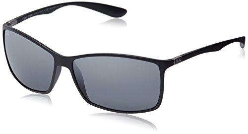 Ray Ban Herren Sonnenbrille RB4179 Matte Black/Graymirrorsilverpolar One size (62)