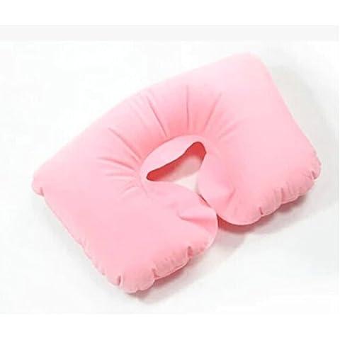 Liroyal–Rosa gonfiabile a forma di U viaggio Volo Cuscino del collo cuscino d' aria (Rosa Car Care)