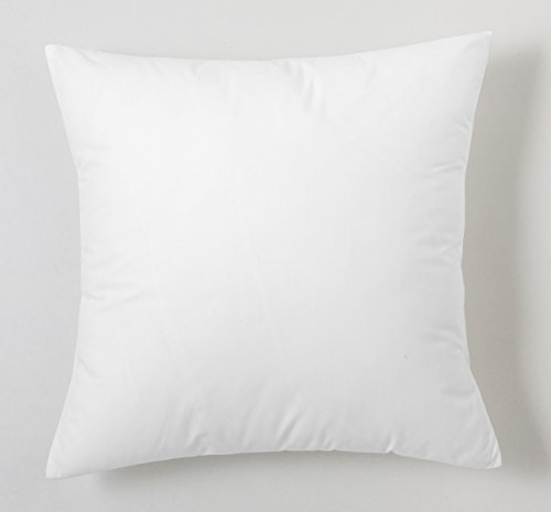 ESTELA - Funda de cojín Combi Liso Cala Color Blanco - Medidas 40x40 cm. - 100% Algodón - 144 Hilos...