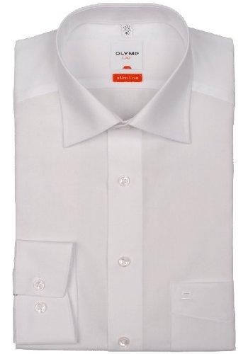 OLYMP Luxor modern fit Hemd super langer Arm Popeline weiß AL 72 Weiß