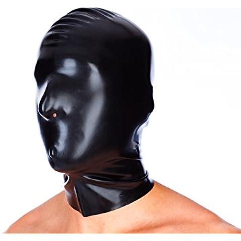 EXLATEX l¨¢tex de caucho Fetiche Accesorios capilla m¨¢scara con agujeros fosa nasal