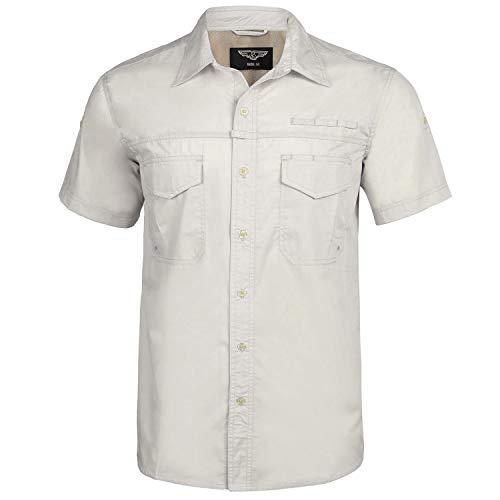 Sykooria Herren Hemd Leicht Button-Down Freizeit Regular Fit Atmungsaktiv Lustig Urlaub Style Herren Outdoor Reise Hemd Sportshirt -
