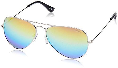 IDEE Mirrored Aviator Unisex Sunglasses - (IDS2001C23PSG|58 Yellow Gradient and Blue Revo lens) image