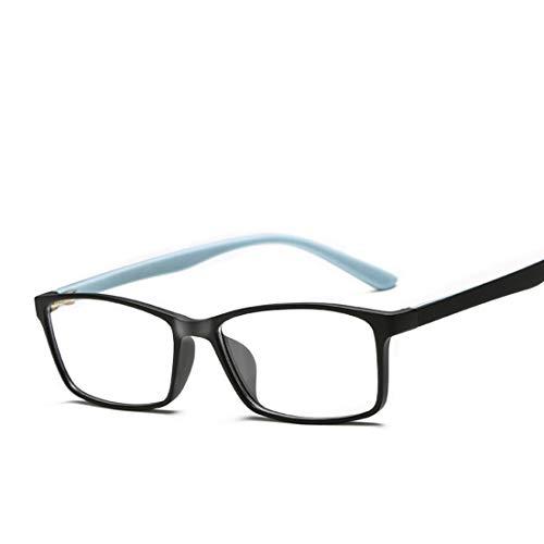 Yajiemei Ultraleichte, Anti-Blaue Farbabstimmung Spiegelgläser gestalten Computer Brillen für Frauen, Männer (Color : Matte Black)