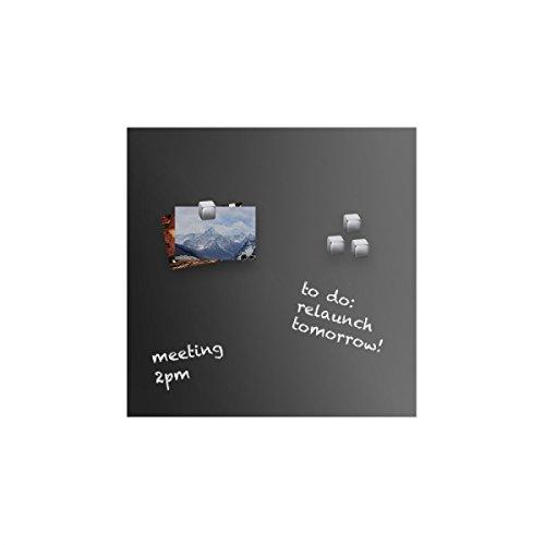 VISCOM® Glastafel magnetisch   Glas-Magnettafel   Memoboard   Glasboard   Verschiedene Farben und Größen   Schwarz   45 x 45 cm