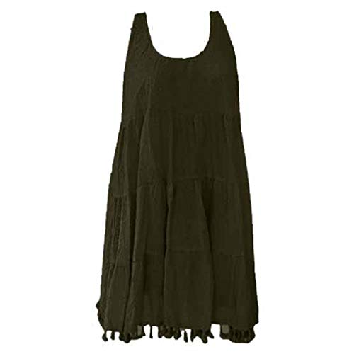 TOPKEAL Oberteil T-Shirt Damen Sommer Elegante Damen Bluse Frühling Causal O-Neck ärmellose Quasten Top Hemd Tunika Mode 2019