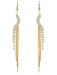 Yellow Chimes Fashion Hangings Gold Plated Drop Earrings for Women (YCRMER-41-GL)