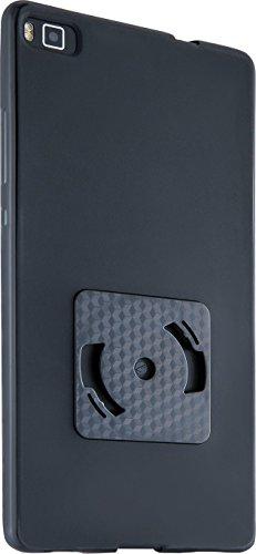 Gadget Smartwind® DUO CrossCover per Huawei P8 - composto da bumper athos-c di colore nero con pregiato avvolgicavo per auricolari di colore bianco-nero con funzione stand. Adatto per
