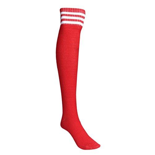Mädchen Kinder-baseball-jersey (Mädchen Sportsocken Transer® Knie-Lange Acrylfasern Draussen Fußball Basketball Baseball-Socken Strümpfe Größe: 66cm (rot))