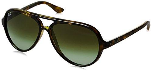 Ray-Ban RAYBAN Herren Sonnenbrille 4125, Havana/Green Gradient Brown, 59