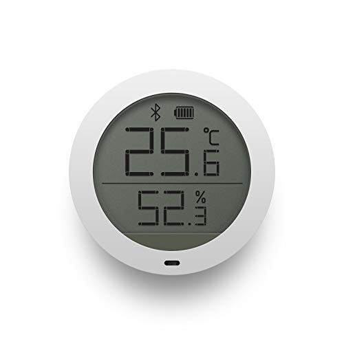 Xiaomi Mi Temperature And Humidity Monitor NUN4019TY, Monitor di temperatura e umidità con Bluetooth, Bianco