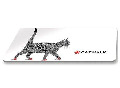 PPD Brettchen Frühstücksbrettchen Katze Catwalk