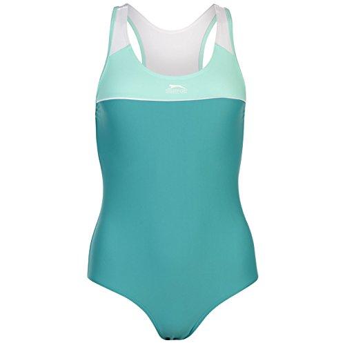 Slazenger Donna Costume da bagno a spalle scoperte Verde