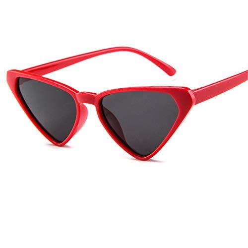 ZHOUYF Sonnenbrille Fahrerbrille Übergroße Sonnenbrille Frauen 90Er Jahre Cat Eye Sonnenbrille Weibliche Vintage Sexy Dreieck Brille, E