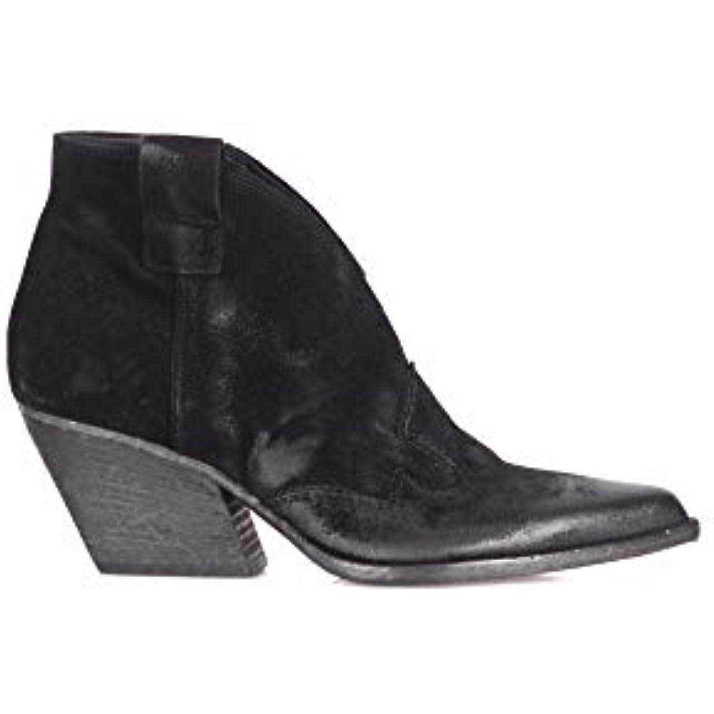 ELENA IACHI Bottines - Bottines IACHI Cheville Femme E2004 Velour Nero Couleur Noir - B07KCNSYQG - e15529