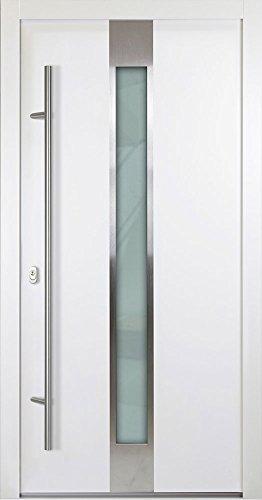 Alu Haustür 05 - weiß, nach innen öffnend, DIN rechts(von innen), 1100x2100mm
