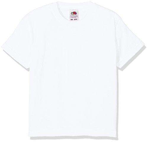 Fruit of the Loom Jungen T-Shirt Value T, Weiß (White),7-8 Jahre (Herstellergröße:30)