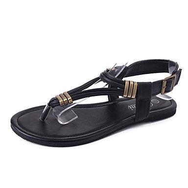 Donn's sandali Comfort estivo PU Casual tacco piatto fibbia a piedi US8 / EU39 / UK6 / CN39