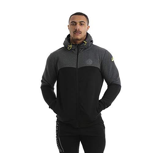 Gold's Gym 2019 Full Zip Technischer Hoodie Herren Fitness Pullover Black/Charcoal Marl Medium