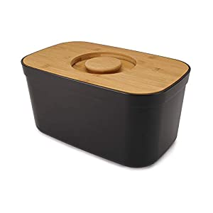 Joseph Joseph Bread Bin with Cutting Board Lid-Black, One Size