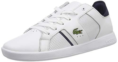 Lacoste Herren Novas 119 1 SMA Sneaker Weiß (Wht/NVY 042) 46 EU