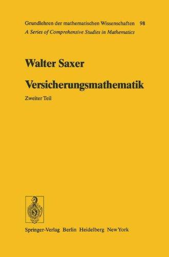 Versicherungsmathematik (Grundlehren der mathematischen Wissenschaften)