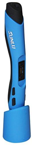 SUNLU SL-300 3D Pen 3D Stift mit LCD-Display in verschiedenen Farben, hier Farbe Blau, inklusive PLA/ABS Filament zum Modellieren und Basteln
