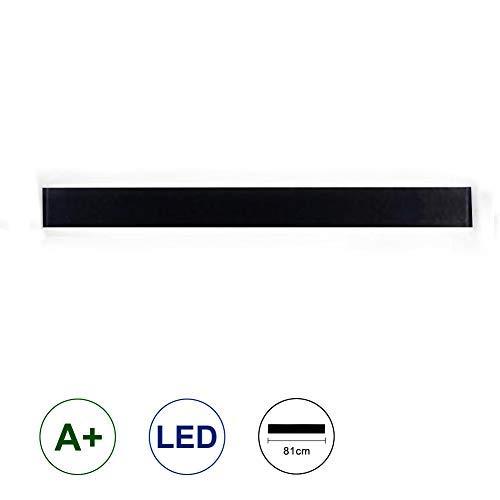 K-Bright 30W LED Spiegelleuchte I Badleuchte I Schminklicht I Badezimmer I Badbeleuchtung I neutral-weiß I 230 V I IP44 I Produktlänge: 32 zoll,Abstrahlwinkel 120°,Schwarz