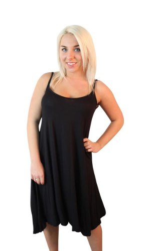 Fast Fashion - Robe Plus La Taille Sans Manches En Viscose Plaine D'oscillation De Maillot - Femmes Noir