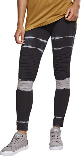 Urban Classics Ladies Striped Tie Dye Biker Leggings