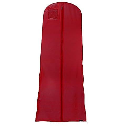 Wasserabweisender Kleidersack für Hochzeitskleider - Weinrot - 183 cm - Hangerworld (Schutzhülle Für Kleiderständer)