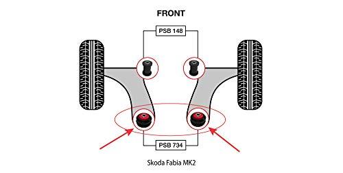 PSB polyuréthane Bush Fabia MK2 avant Wishbone arrière bushing kit (07-17) - Psb734